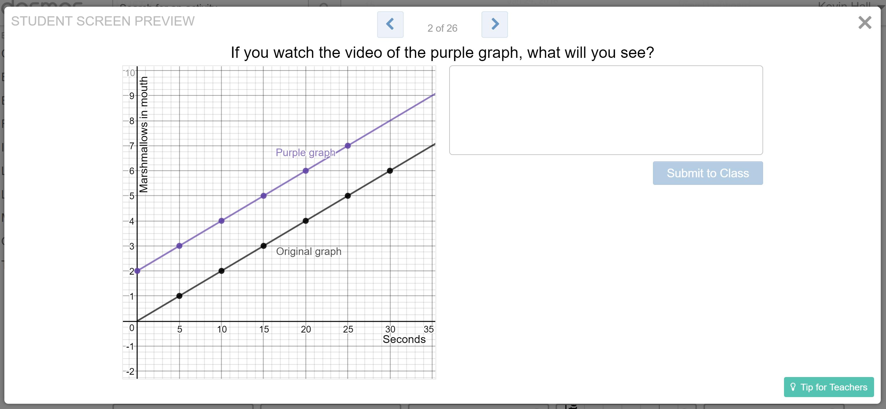 Part 1 purple graph